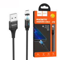 USB Кабель Hoco U76 ″Fresh magnetic″ micro USB 1.2М черный