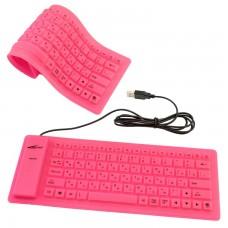 Клавиатура силиконовая Active 86K розовая
