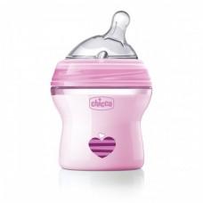 Бутылочка Chicco - Natural Feeling (80811.11) 150 мл / 0 мес.+, пластик, соска силикон (нормальный поток), розовый