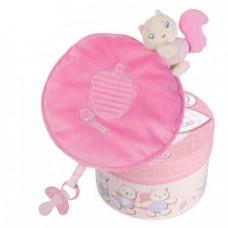 Мягкая игрушка Chicco - Милашка белка (07496.10) в коробке, розовый