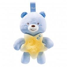 Подвеска музыкальная Chicco - Спокойной ночи Мишка (09156.20) голубой