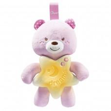 Подвеска музыкальная Chicco - Спокойной ночи Мишка (09156.10) розовый