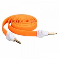 AUX кабель 3.5 M/M плоский 2 метра оранжевый