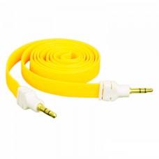 AUX кабель 3.5 M/M плоский 2 метра желтый