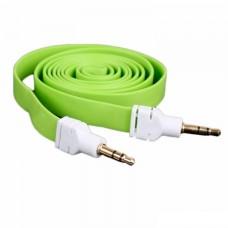 AUX кабель 3.5 M/M плоский 2 метра салатовый