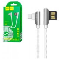 USB кабель Hoco U42 ″Exquisite steel″ Type-C 1,2m белый