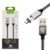 USB кабель inkax CK-50 магнитный Type-C 1м черный
