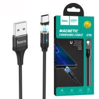 USB Кабель Hoco U76 ″Fresh magnetic″Type-C 1.2М черный