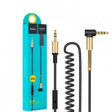 AUX кабель 3.5mm Hoco UPA02 с микрофоном 2 метра черный
