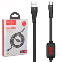 USB Кабель Hoco S4 ″With Timer″ Type-C 1.2М черный