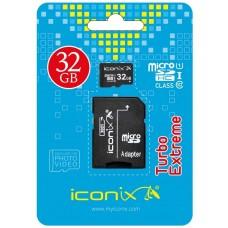 Карта памяти micro SD ICONIX 32GB class 10 с адаптером SD