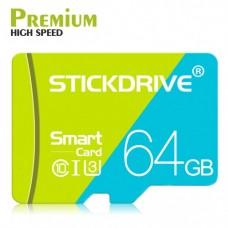 Карта памяти microSD Premium STICKDRIVE (GB U3064) 64 GB, class U3