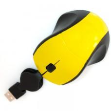 Мышь проводная M105 mini рулетка желтая