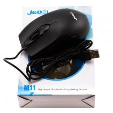 Мышь проводная Jedel M11 черная