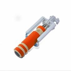 Монопод селфи палка Mini AUX 3.5 оранжевый