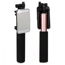 Монопод селфи палка Flash Mirror Benk розовый