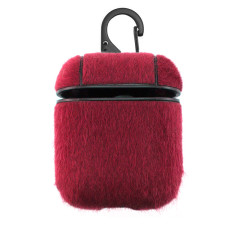 Футляр для наушников Airpod Wool красный