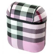 Футляр для наушников Airpod Burbery розовый