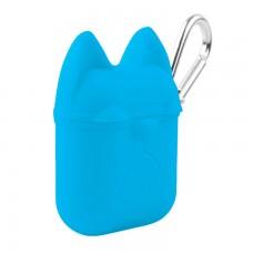 Футляр для наушников Airpod Dog голубой