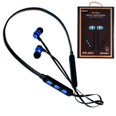 Bluetooth наушники с микрофоном Remax SN-001 синие