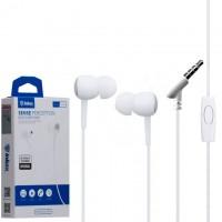 Наушники с микрофоном inkax EP-10 белые