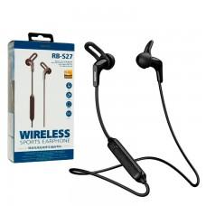 Bluetooth наушники с микрофоном Remax RB-S27 черные