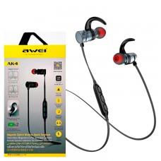 Bluetooth наушники с микрофоном AWEI AK4 черно-серые