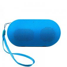 Портативная колонка Mini pill голубая