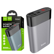 Power Bank Hoco B34 Outstanding 8000 mAh Original серый