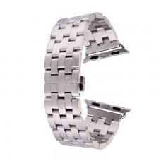Ремешок Apple Watch Band 5-Bead 42mm Silver серебристый
