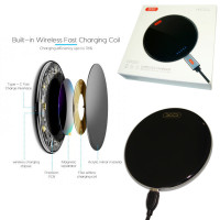 Беспроводное зарядное устройство XO WX001 - 15W Type-C черный