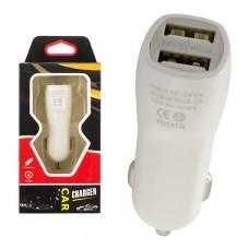 Автомобильное зарядное устройство Car-002 2USB 2.1A white