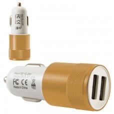 Автомобильное зарядное устройство Car-004 2USB 2.1A gold без коробки