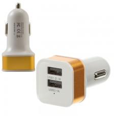 Автомобильное зарядное устройство Car-005 2USB 2.1A gold без коробки