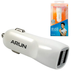 Автомобильное зарядное устройство ARUN C-201 2USB 2.1A white