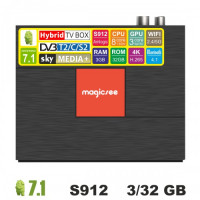 Android TV/T2/C/S2 приставка SKY (Magicsee C400 Plus) 3/32 GB