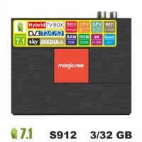 Android TV/T2/C/S2 приставка SKY (Magicsee C400 Plus) 3/32 GB