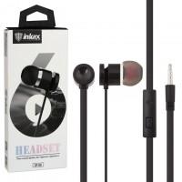Наушники с микрофоном inkax EP-06 черные