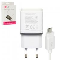Сетевое зарядное устройство LG MCS-048R 1USB 1.8A micro-USB white